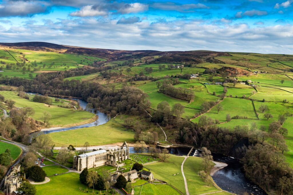 Bolton Abbey in Yorkshire